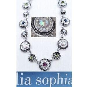 New Lia Sophia Seltzer PUHLEEZ AB Crystal Necklace